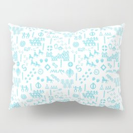 Peoples Story - Turquoise and White Pillow Sham