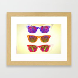 Sunglasses In Paradise Framed Art Print