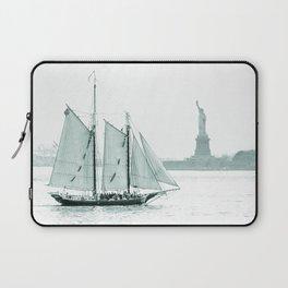 Statue of Liberty with Schooner Laptop Sleeve