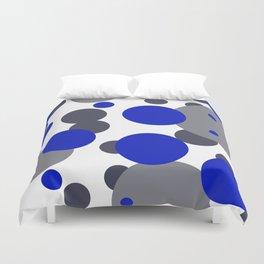 Bubbles blue grey- white design Duvet Cover