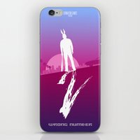 hotline miami iPhone & iPod Skins featuring Enjoy The Violence - Hotline Miami 2 Minimalist Poster by Marco Mottura - Mdk7