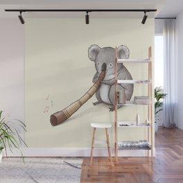 Koala Playing the Didgeridoo Wall Mural