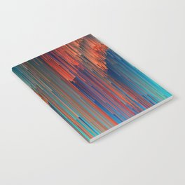 All About Us - Abstract Glitch Pixel Art Notebook