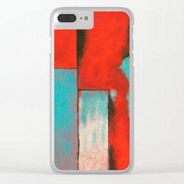 The Corners of My Mind, Abstract Painting Clear iPhone Case
