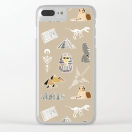Archeo pattern Clear iPhone Case