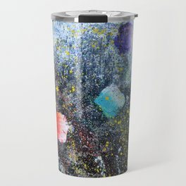 ICE CREAM, CITY LIGHTS AND HOT SUMMER NIGHTS - abstract expressionism original prophetic painting Travel Mug