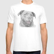 Murphy :: Forever Home MEDIUM White Mens Fitted Tee