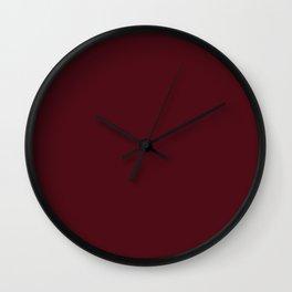 Maroon Oak Color Wall Clock