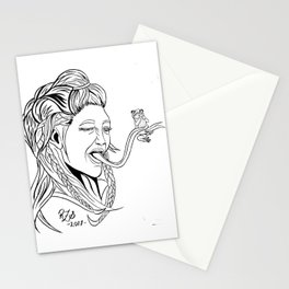 Sepent (line work) Stationery Cards