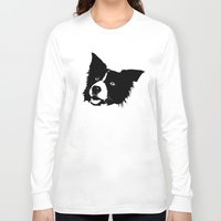 border collie Long Sleeve T-shirts featuring Border Collie by MIX INX
