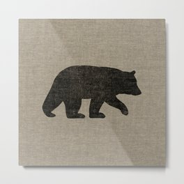 Black Bear Silhouette Metal Print