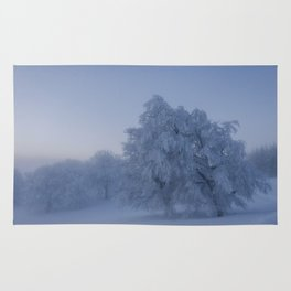 Black Forest Snowy Trees - Landscape Photography Rug