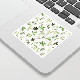 Delicate Herb Illustrations Sticker