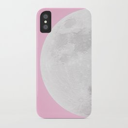 WHITE MOON + PINK SKY iPhone Case