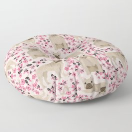 French Bulldog fawn coat cherry blossom florals dog pattern floral dog breeds Floor Pillow