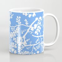 cherry blossom Mugs featuring Cherry Blossom by Elena O'Neill