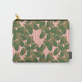 Falling leaves with pastel stripes Carry-All Pouch