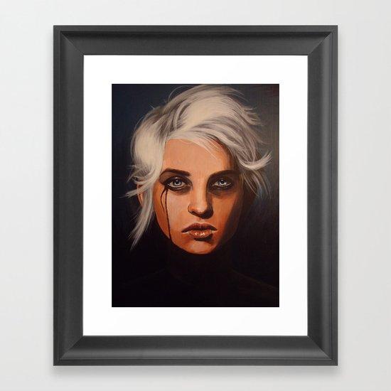 Slate is Clean Framed Art Print