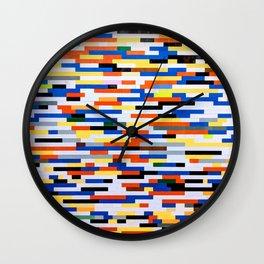 Building Blocks Pattern Multicolor  Wall Clock