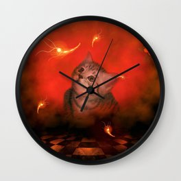 Cute little kitten Wall Clock