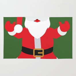 Christmas Santa Claus Says Welcome to You Rug