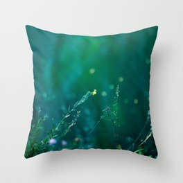 Fairy Tail - Flower on the Water - Magic Grass Throw Pillow