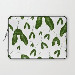 Maple Seeds - Green and White Laptop Sleeve