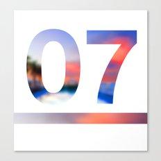 07 Jersey Canvas Print