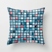 square Throw Pillows featuring square by Claudia Drossert