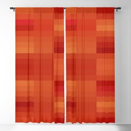 Rusty Orange Abstract Blackout Curtain