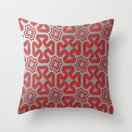 Christmas wrap pattern Throw Pillow
