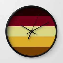 Ornamental Reds and Yellows Wall Clock