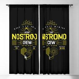 Deep Mining Crew / Nostromo / Alien / Science Fiction / Horror / Typography Blackout Curtain