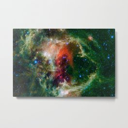 Soul Nebula located in Cassiopeia Deep Space Telescopic Photograph Metal Print