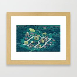 "EarthBound ""Onett"" (Night) Framed Art Print"