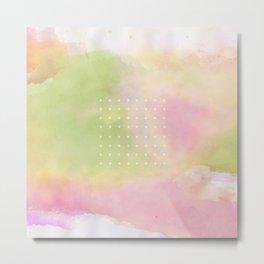 watercolor wash and dots Metal Print