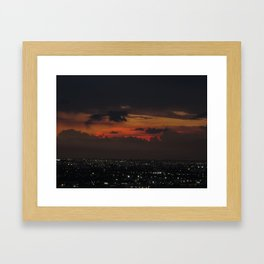 A Sky On Fire Framed Art Print