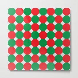 Christmas Color Octagons Metal Print