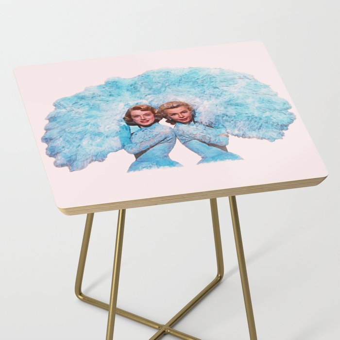 Sisters - White Christmas - Watercolor Side Table
