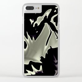 Moon Liquified Clear iPhone Case