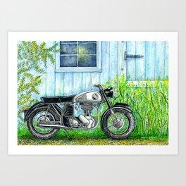 Norton ES2 Motorcycle Art Print