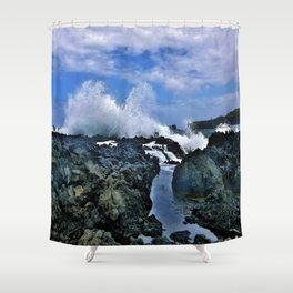 Ocean Scene while on Maui's Road to Hana Shower Curtain