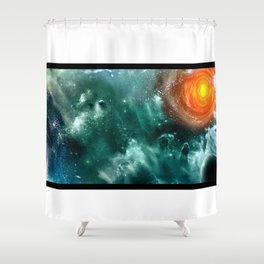 Conquest of Space Shower Curtain