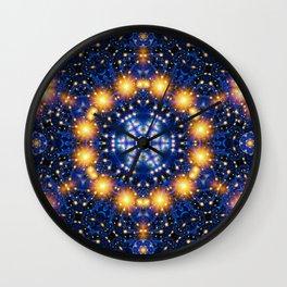Star Burst Mandala Wall Clock