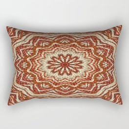 Brown - White - Beige Cotton Pattern (1) Rectangular Pillow