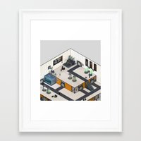 monster inc Framed Art Prints featuring Monster Labs Inc. by Allen Amin
