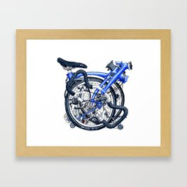 Brompton Folded blue painting Framed Art Print