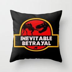 Jurassic Betrayal Throw Pillow