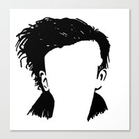 matty healy Canvas Prints featuring Matt Healy Silhuette Drawing by summergirl