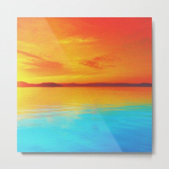 sunset beachh Metal Print
